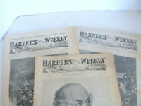 Harpers Weekly Journal of Civilization lot of 3    1899 & 1898