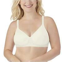 Vanity Fair Women's Breathable Luxe Full Figure, Coconut White, Size 38C ABq0