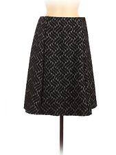 Renee, Chevron Herribone Black Casual Skirt, Size M, NWT
