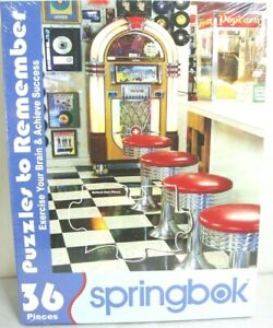 Springbok Puzzles to Remember Exercise Your Brain The Malt Shop 36 Pieces NEW