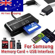 Micro USB OTG Hub SD Card Reader Adapter Phone Tablet Samsung Galaxy S6 S7 Tab
