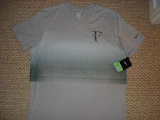 NWT Nike Federer Premier RF Trophy V Neck Tennis Shirt 547585-096 Nadal Medium