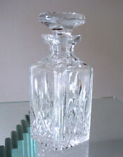 CUT PRESSED CRYSTAL GLASS SQUARE DECANTER
