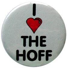 i heart the hoff - 25mm (1 inch) badge, i love the hoff
