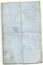 1854 Azul UDC wigstone llegada Matasellos De William Johnson legado deber Carta
