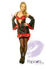 Burlesque Vampiress Ladies Halloween Fancy Dress 3 Szs