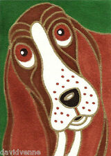 Venne Canvas Giclee ACEO Print - Brown Hound Dog