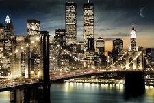 Manhattan Poster night lights gloss feuilleté new sealed frais d'expédition gratuits R-U