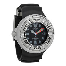 **NEW** CITIZEN MENS DIVERS ECO-DRIVE BLACK AQUALAND WATCH BJ8050-08E RRP £599