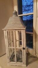XXL Laterne Windlicht Metall 80 cm im Industrie Style Loft Garten Terrasse