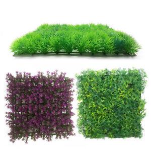 Aquarium Artificial Water Green Grass Flower Lawn Plant Fish Tank Landscap Decor