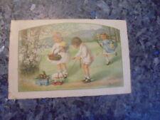 beau lot de huit carte postale ancienne enfantine...