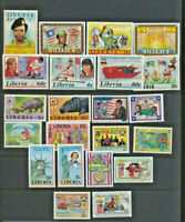 Liberia Mini Mint Topical Pictorial Collection 22 Different Large Size Stamps