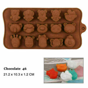 Animals Bear Pig Horse Cat Silicone Mould Chocolate Fondant Jelly Ice Cube Mold