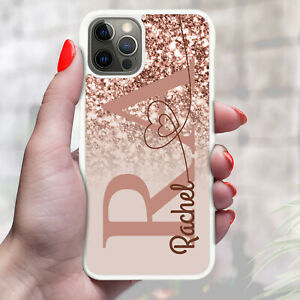 Personalised Marble Phone Case Cover For Apple Samsung Initial Name - Ref Y38