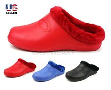 Womens Fleece Lined Warm Winter Slippers Clogs House Shoes Non Slip Outdoor
