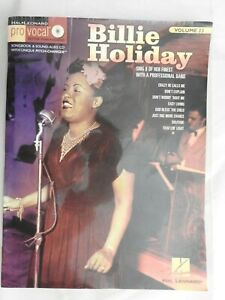 Billie Holiday Pro-Vocal Sing Along Volume 33  PB with CD Hal Leonard