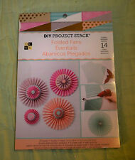 Craft DIY Project Stack*FOLDED FANS*Makes 14