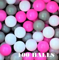 100 x Plastic Balls for Ball Pits Childrens Kids Multi-Coloured Toys Play Pool