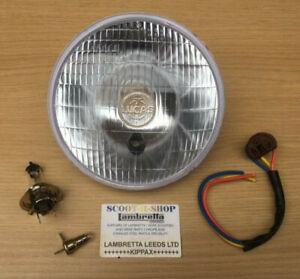 """LUCAS 700 HEADLIGHT 7"""" INCH - CONVERSION LAMP 12V 3 PIN HALOGEN BULB & HOLDER"""