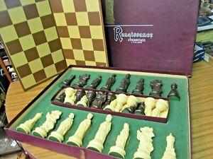 1959 Vintage Chess Set #833 Lowe Renaissance Chessmen Chess Board Game Original