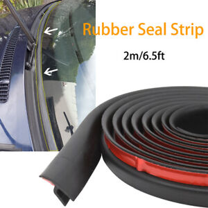 2m Car Rubber Seal Strip Trim For Car Front Rear Windshield Sunroof Weatherstrip