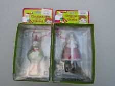 Department 56 Christmas With The Clauses Santa Snowman Ornament Lot