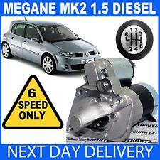 FITS RENAULT *6-SPEED* MEGANE II Mk2 1.5 dCi 2005-2009 DIESEL NEW STARTER MOTOR