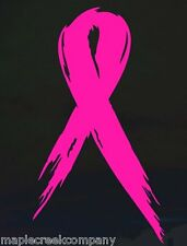 "7"" tall Cancer Awareness Ribbon Window Decal ~ White or Choose Your Vinyl Color"