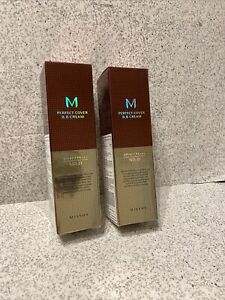 Missha M Perfect Cover BB Cream SPF 42 PA+++ No. 21 Light Beige Lot Of Two!