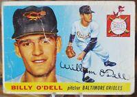 1955 Topps Baseball Card, #57 Billy O'Dell, Baltimore Orioles - G