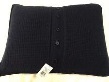 Ralph Lauren Cashmere Travel Pillow. Retails For $285 Navy Blue 15 X 20 Deluxe