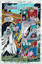 NEW TITANS COMICS #98 OG COLOR PRODUCTION ART SIGNED ADRIENNE ROY COA PG 2