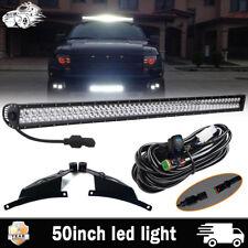 50'' LED Light Bar +Mounting Bracket For 2010-14 Ford F150 SVT Raptor 09-14 F150