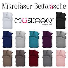 2-tlg Mikrofaser Uni Bettwäsche 135x200 155x220 200x200Kissenbezug in 11 Farben