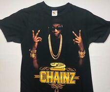 Adult Unisex S Two Chainz Rap Hip-Hop Music Concert Tour Black T-Shirt