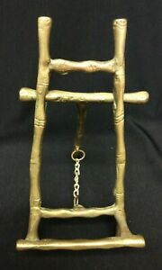 """VINTAGE BRASS BAMBOO STYLE PICTURE EASEL  6"""""""