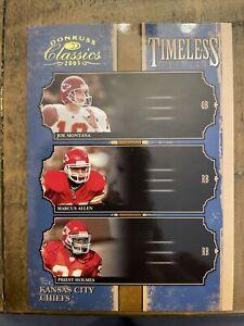2005 Donruss Classics Timeless Triples Gold /250 Joe Montana Marcus Allen HOF