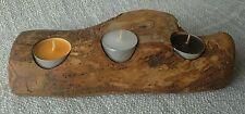 Handmade Wooden Contemporary Candle & Tea Light Holders