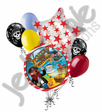 7 pc Happy Birthday Pirate Ship Balloon Bouquet Party Decoration Parrot Ocean