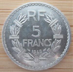 FRANCE  - 5 FRANCS 1945  ESSAI -ALUMINIUM - LAVRILLIER  TYPE -RARE PATTERN