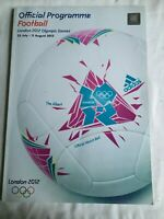 2012 LONDON-OLYMPIC GAMES-FOOTBALL PROGRAMME + 1 TICKET - collectable
