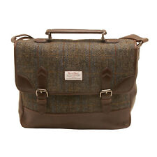 The British Bag Company - Carloway Harris Tweed Briefcase Messenger Bag