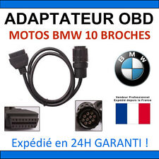 Adaptateur Motos BMW 10 broches vers OBD2 - CARLY ICOM INPA K+DCAN NCS RHEINGOLD