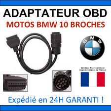 Cable adattatore da OBD2 10pin BMW MOTO BIKE MOTORRAD CAVO SERVICE