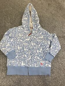 Boden Mini Boden Woodland Print Hoody In Pale Blue- Age 7-8