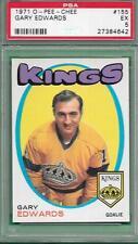 OPC VINTAGE HOCKEY CARD 1971 O-PEE-CHEE #155 GARY EDWARDS GRADED PSA 5 EX *KINGS