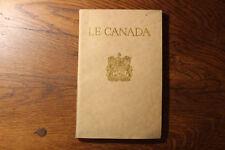LE CANADA - livre de présentation, 1923, TBE - carte chemin de fer