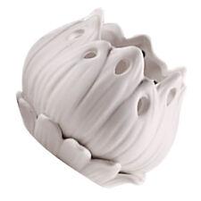 Baoblaze Ceramic Flowerpot Planter White Bonsai Succulent Plant Flower Pot L