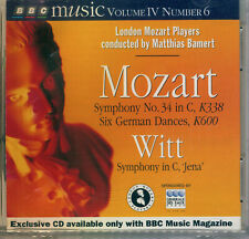 Mozart BBC MUSIC VOLUME 1V Number 6 CD 069